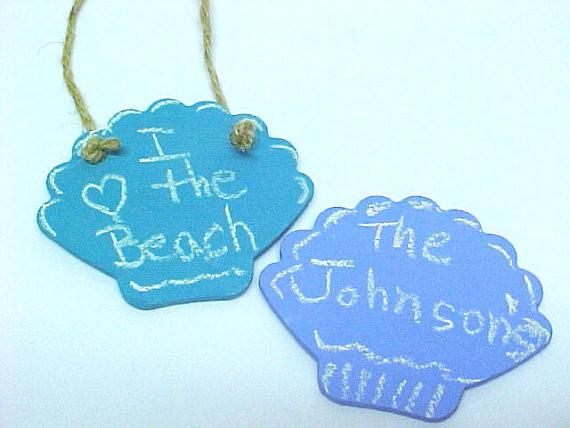 Beach Sea Shell Shape Chalkboard By Pottery By Anita