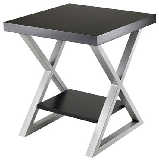End Table with Black Top contemporary-side-tables-and-end-tables