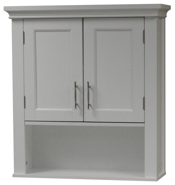 Somerset Bathroom Storage Collection, White, Wall Cabinet