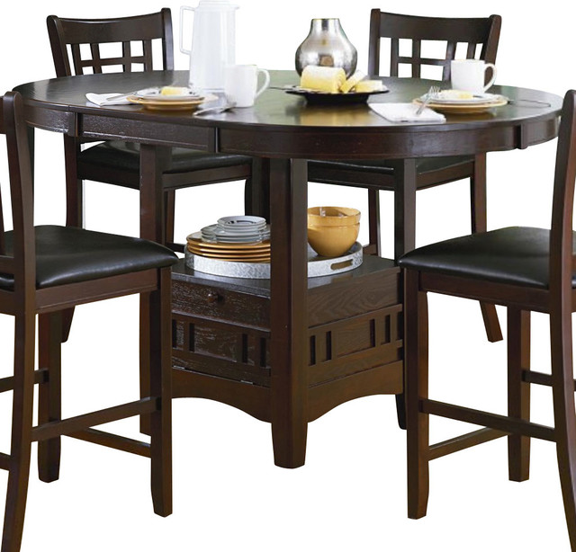 ... Counter Height Table with Storage Base - Traditional - Dining Tables