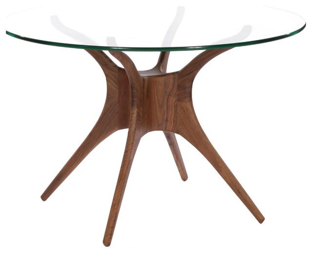Roku Round Glass Dining Table Modern Dining Tables Sydney By