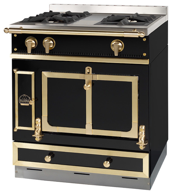 la cornue of france chateau 75 in black traditional gas ranges and electric ranges other. Black Bedroom Furniture Sets. Home Design Ideas