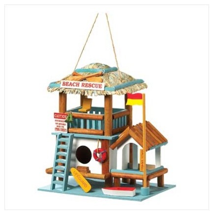 Lifeguard Station Birdhouse traditional-birdhouses