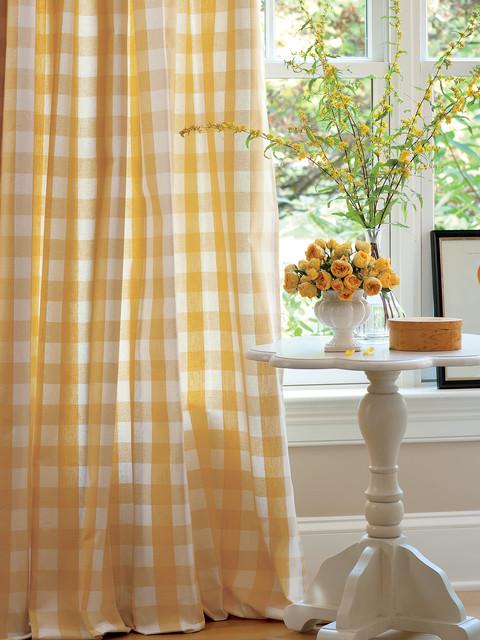 Buffalo Check Rod Pocket Curtains traditional-curtains