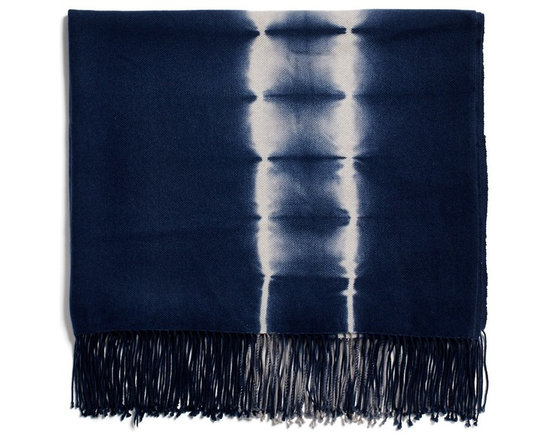 Kevin O'Brien Indigo Shibori Cashmere Throw -