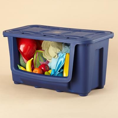 Blue Pack It In Bin contemporary-toy-storage