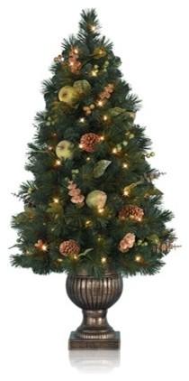 Balsam Hill Sausalito Pine Topiary Artificial Christmas Tree traditional-christmas-trees