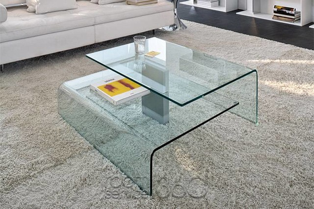 Harrow Italian Contemporary Glass Coffee Table Modern Coffee Tables