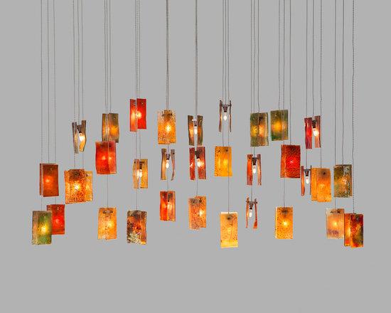 Galilee Lighting - colorful bells - Galilee Lighting - Beautiful art glass chandelier.