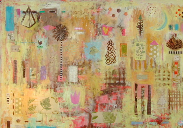 Art::: palette gold and yellow artwork