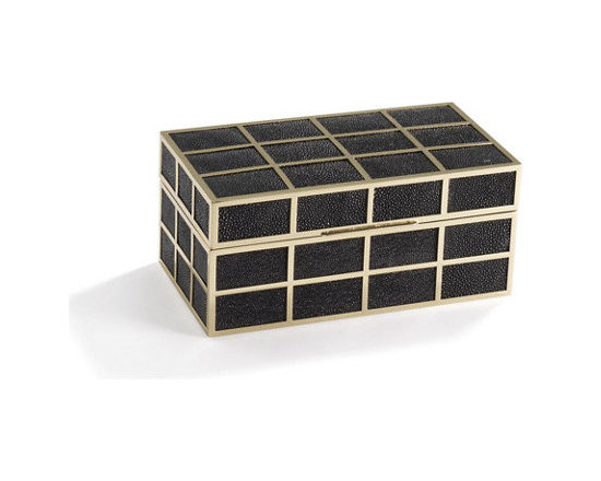 Devereaux Grid Box, Black -
