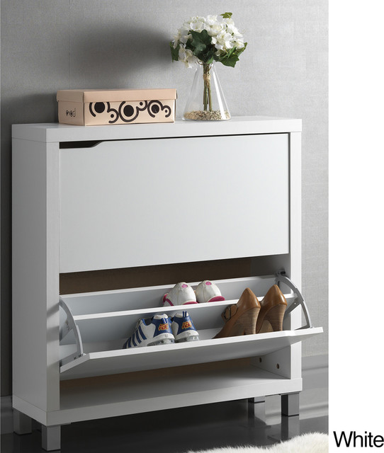 Baxton Studio 'Marsha' Modern Double Shoe Cabinet contemporary-storage-units-and-cabinets