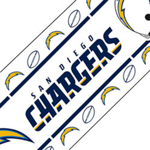 San Diego Chargers Decals: NFL San Diego Chargers Football Peel Stick Wall Border