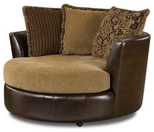 Round swivel chair contemporary armchairs and accent chairs by ivgstores for Swivel chairs for living room contemporary