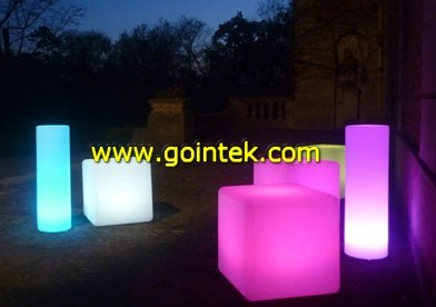 led cube with rechargeable battery modern-footstools-and-ottomans