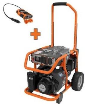 Portable Generator: RIDGID. 6800-Watt Gasoline with Free 100-Watt Inverter RD906 contemporary-cable-management