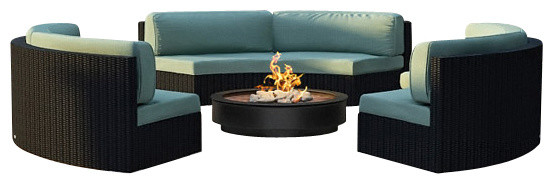 Urbana Eclipse 3 Piece Round Sectional Set, Spa Cushions modern-patio-furniture-and-outdoor-furniture