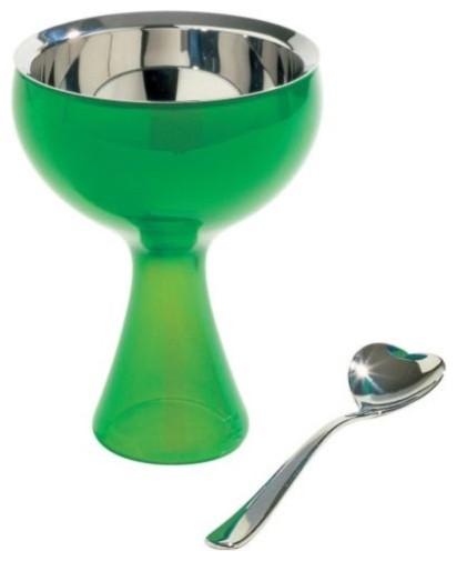 Big Love Ice Cream Bowl with Spoon modern-serving-utensils