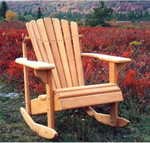 Hyre's Country Haven Mahogany Adirondack Rocking Chair contemporary-outdoor-chairs