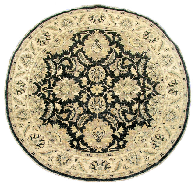 T343 Round Ziegler Rug traditional-carpet-tiles