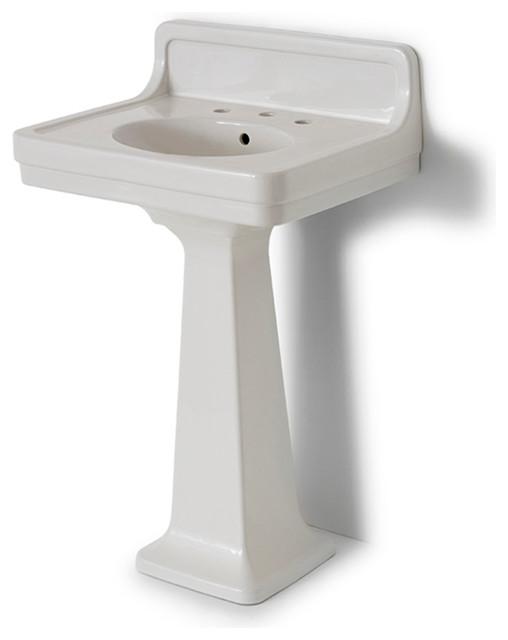 Alden Pedestal Sink with Backsplash | waterworks.com bathroom sinks