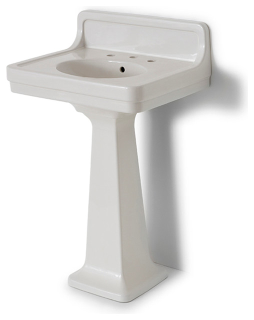 Alden Pedestal Sink With Backsplash Waterworkscom