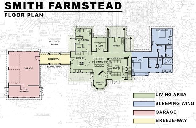 Farmhouse Floor Plan by Dan Nelson, Designs Northwest Architects