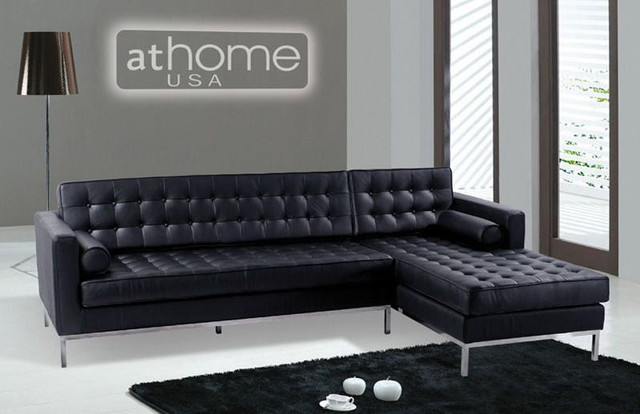 High End Designer All Leather Sectional - modern - sectional sofas