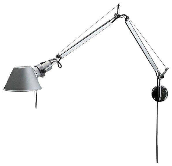 Artemide Tolomeo J Bracket INC Classic Aluminum - Modern - Wall Lighting - by 2Modern