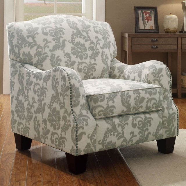 Traditional Accent Chair With Nailhead Trim Traditional