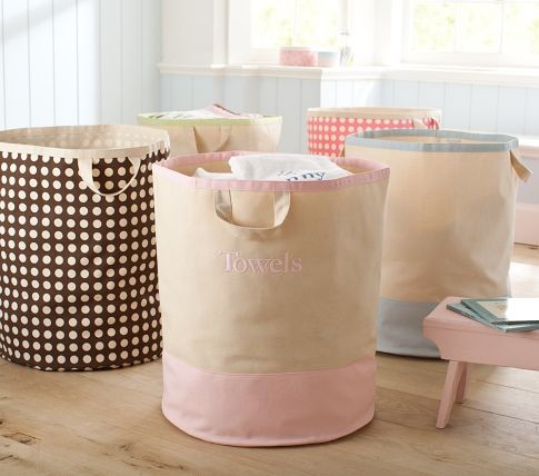 Large Canvas Floor Tote Storage contemporary-toy-organizers