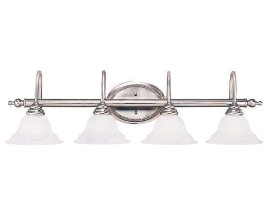 Savoy House - Savoy House KP-SS-108-4-69 Polar Pewter 4 Light Vanity - Savoy House KP-SS-108-4-69 Polar Pewter 4 Light Vanity