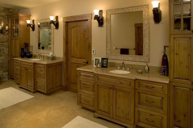 Lake Sammamish Lodge traditional-bathroom