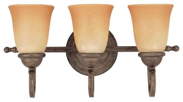 Seagull Brandywine Bathroom Lighting Fixture in Antique Bronze traditional-bathroom-lighting-and-vanity-lighting