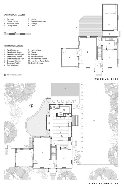 Two Story Addition, Washington, DC Kitchen Plan traditional-floor-plan