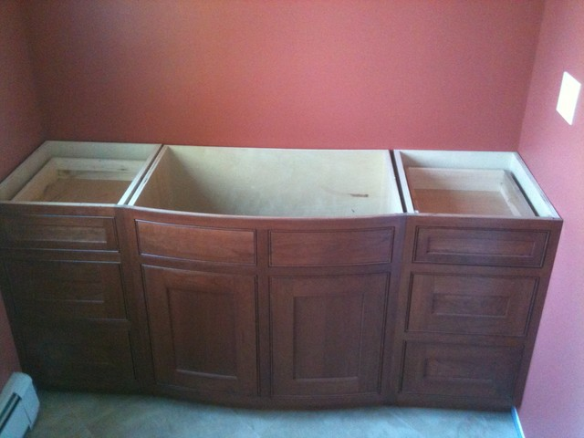 Curved Front Bath Vanity Traditional New York By Ajs