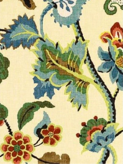Khantau Tree Fabric, Cream transitional-fabric