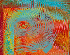 Rippling Colors No 1 giclee art print by Ben and Raisa Gertsberg modern artwork