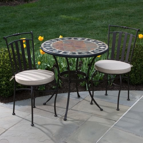 Alfresco Home San Marco Marble Mosaic Bistro Set contemporary-patio-furniture-and-outdoor-furniture