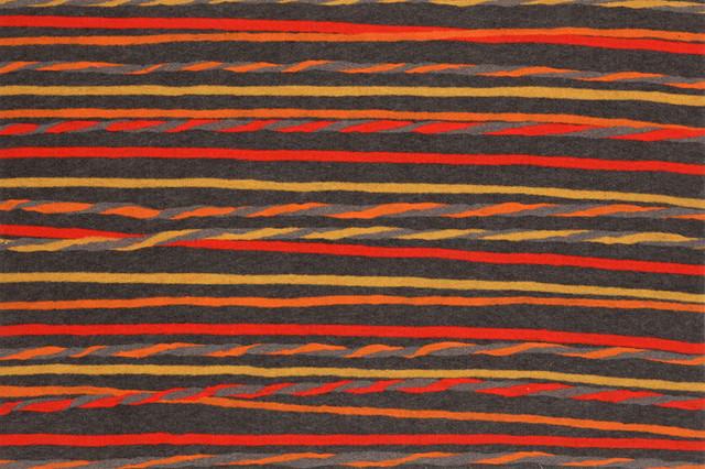 "20""x29.5"" Visions II Twist Stripe Grey/Warm Mat contemporary-doormats"