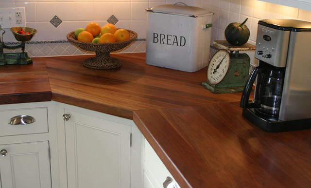 Cherry Wood Kitchen Countertop By Grothouse Traditional