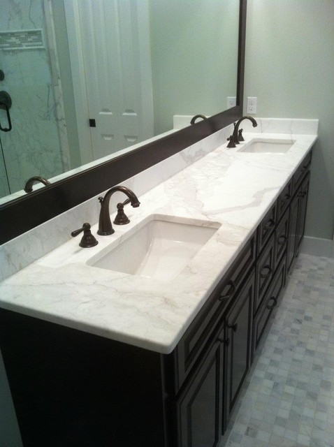 Calacatta Gold Marble Vanity contemporary-bathroom-countertops