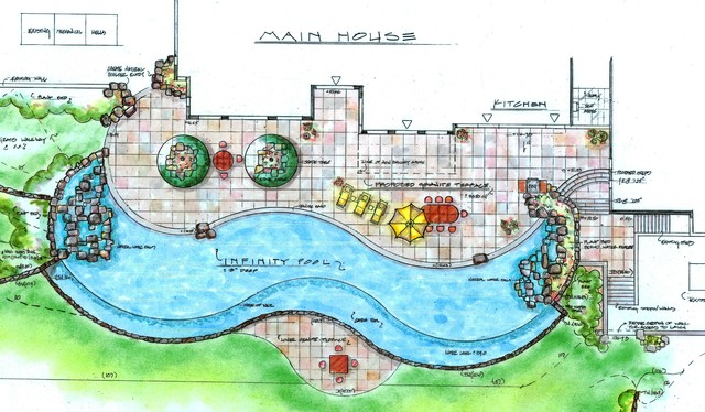 Landscape Design Drawings - Traditional - Site And Landscape Plan - new york - by LDAW Landscape ...