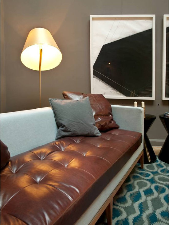 Sofa 2C - Sofa 2C, designed for Dos Casas Hotel located in San Miguel de Allende, Gto, Mx.  It combines leather with linen fabric.