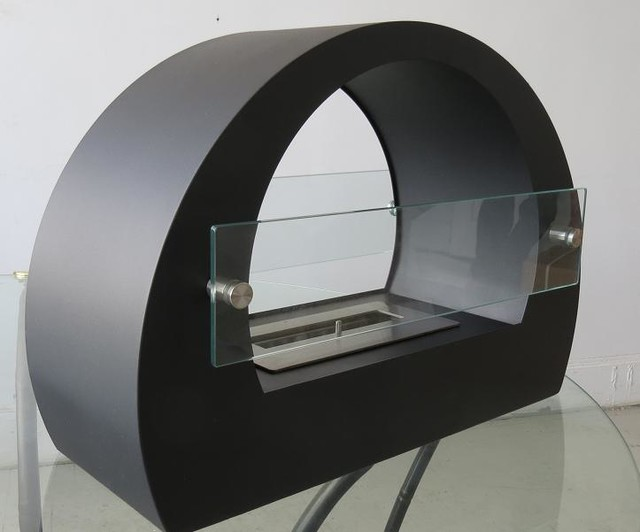 Chelsea Black Free Standing Ventless Ethanol Fireplace