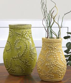 19695 Trailing Leaves, S/2 by uttermost modern-vases