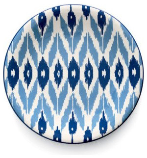 Java Ikat Dessert Plate, Set of Four mediterranean-dinner-plates