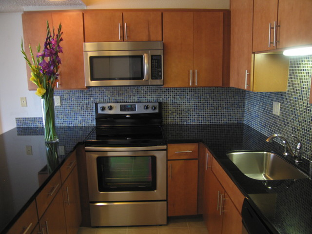 Kitchen Cabinets And Hotel Room