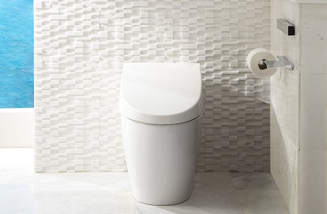 Toto Neorest 550H Dual Flush Toilet 1.0/0.8 GPF With Ewater+ MS982CUMG modern