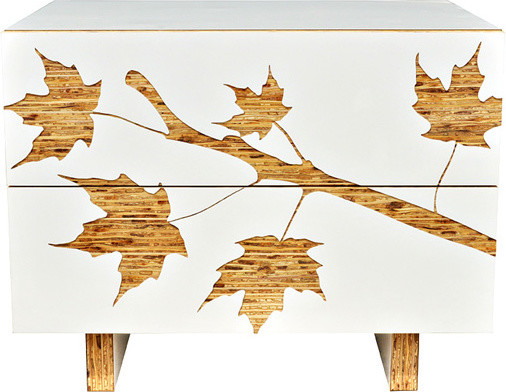 Iannone Design - Trees Graphic Nightstand modern-nightstands-and-bedside-tables